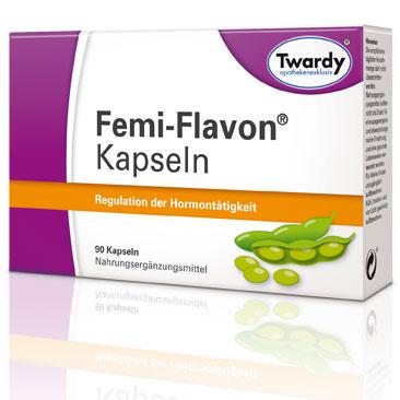 Femi-Flavon-Kapseln von Twardy. Nahrungsergänzungsmittel. 90 Kapseln. Regulation der Hormontätigkeit.